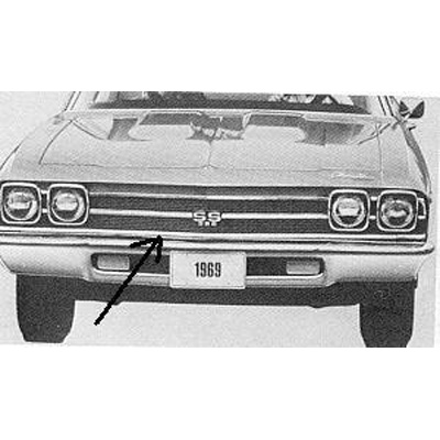 1969 CHEVELLE LOWER GRILLE MOLDING