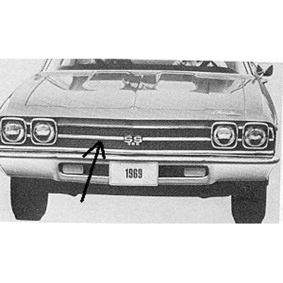 1969 CHEVELLE CENTER  GRILLE MOLDING